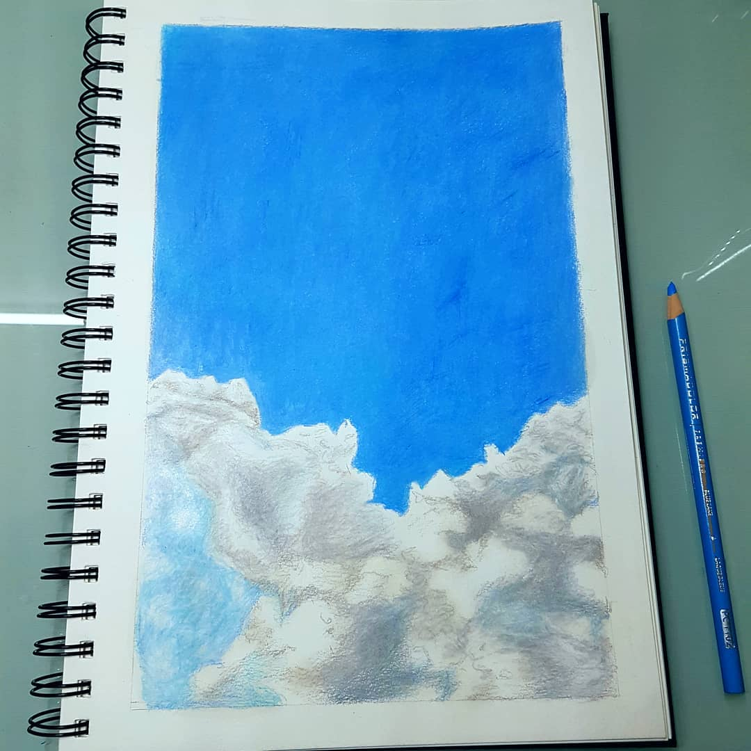 Drawing clouds using colored penciltimelapse athira sasthrasarman